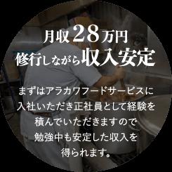 月収28万円修行しながら収入安定